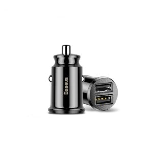 Baseus Grain Car Charger (Dual USB) Black