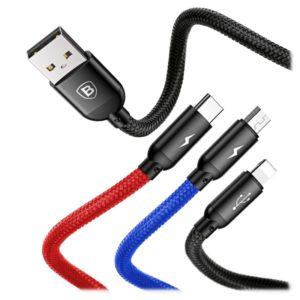 Baseus 3in1 USB For Micro USB /Lightning/USB-C